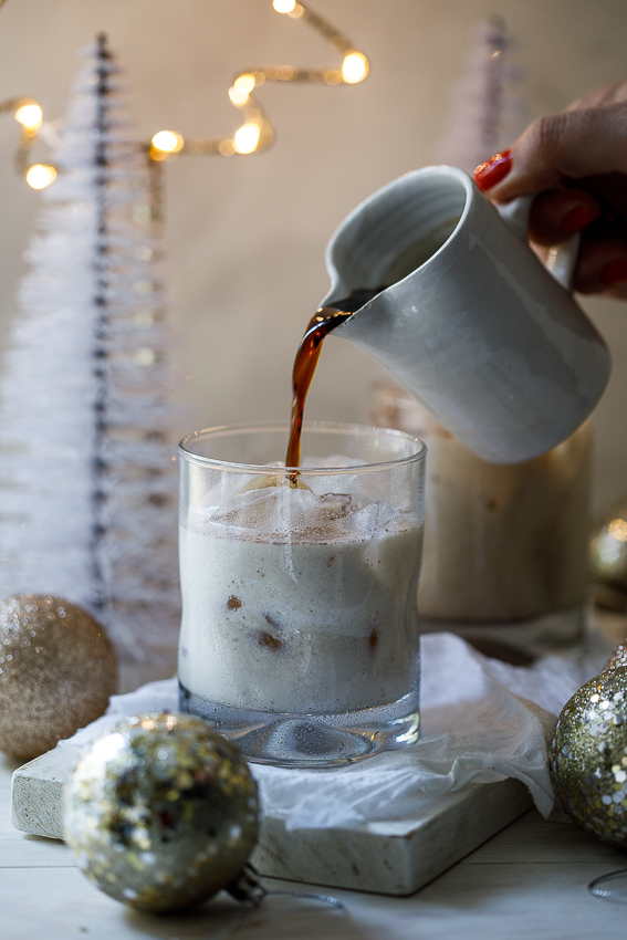 Christmas spiced white Russian