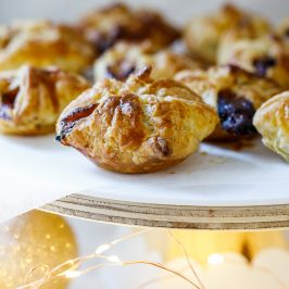 Easy cranberry and Brie pastry puffs