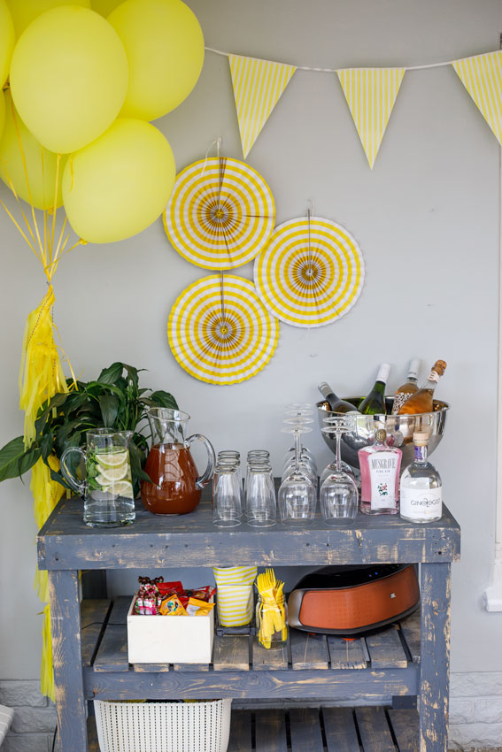 Gin and tonic station birthday party