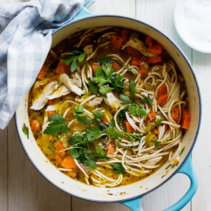 Simple Chicken Soup Recipe: Easy Chicken Noodle Soup Recipe