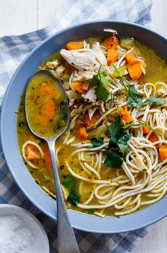 Easy chicken noodle soup recipe