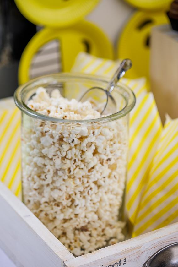 Emoji birthday party popcorn