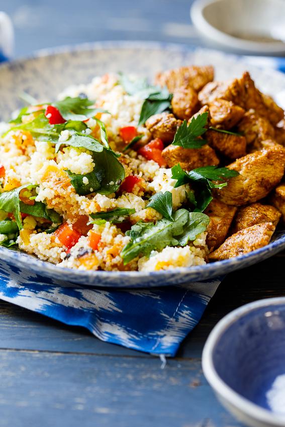 Moroccan chicken couscous salad