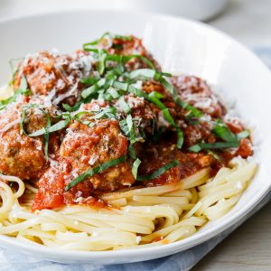 Tuscan slow cooker meatballs