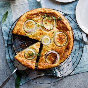 Cheese and onion savoury cake