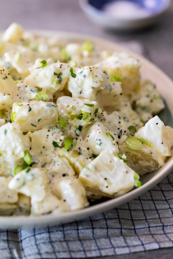 Creamy potato salad with an easy dressing.