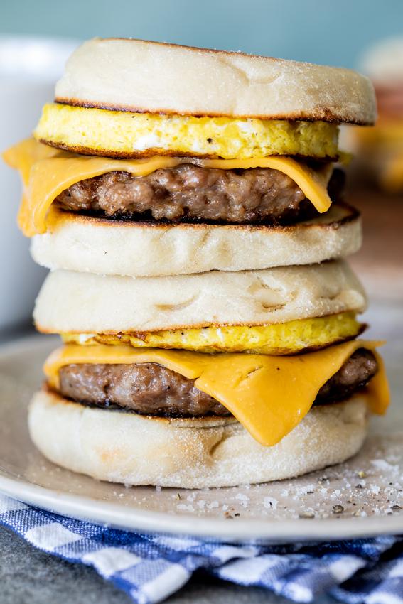 Make-ahead freezer breakfast sandwiches