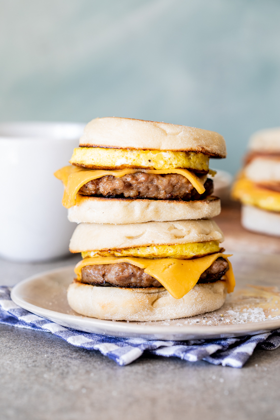 Make-ahead freezer breakfast sandwiches