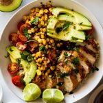 Mexican chicken lunch bowls