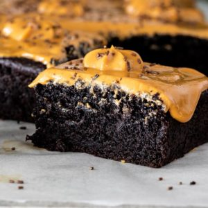 Easy dulce de leche chocolate cake