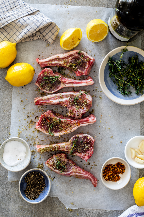 Easy lemon-garlic lamb chops