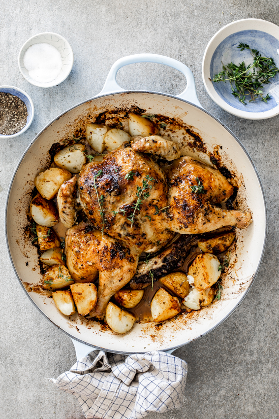 Lemon herb roast chicken