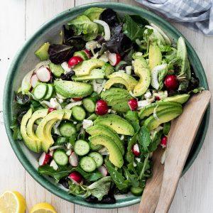 Easy side salad with lemon dressing