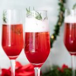 Gingered cranberry poinsettia cocktails