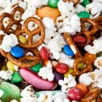 Halloween popcorn snack mix