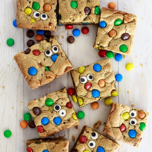 Peanut butter monster cookie bars