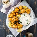 Crispy beer battered cauliflower