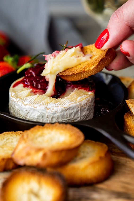 Berry baked Brie