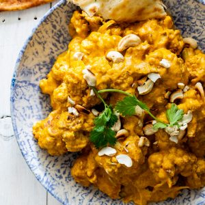 Cauliflower korma curry