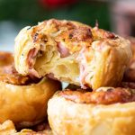 Ham and cheese pastry wheels