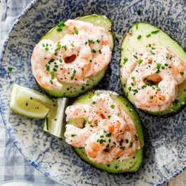 Prawn cocktail stuffed avocados