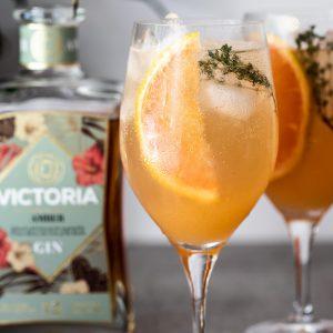 Grapefruit gin spritz