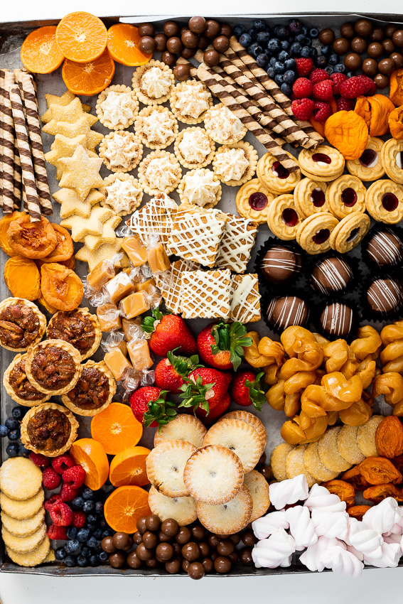 Easy holiday dessert board