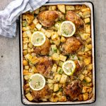 Easy baked Greek chicken and potatoes
