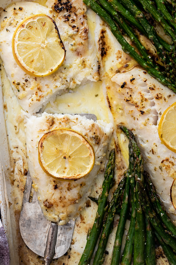 Easy lemon butter baked fish