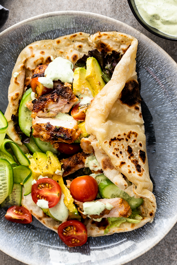 Chicken Shawarma With Easy Flatbread Simply Delicious