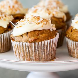 Easy healthy carrot muffins