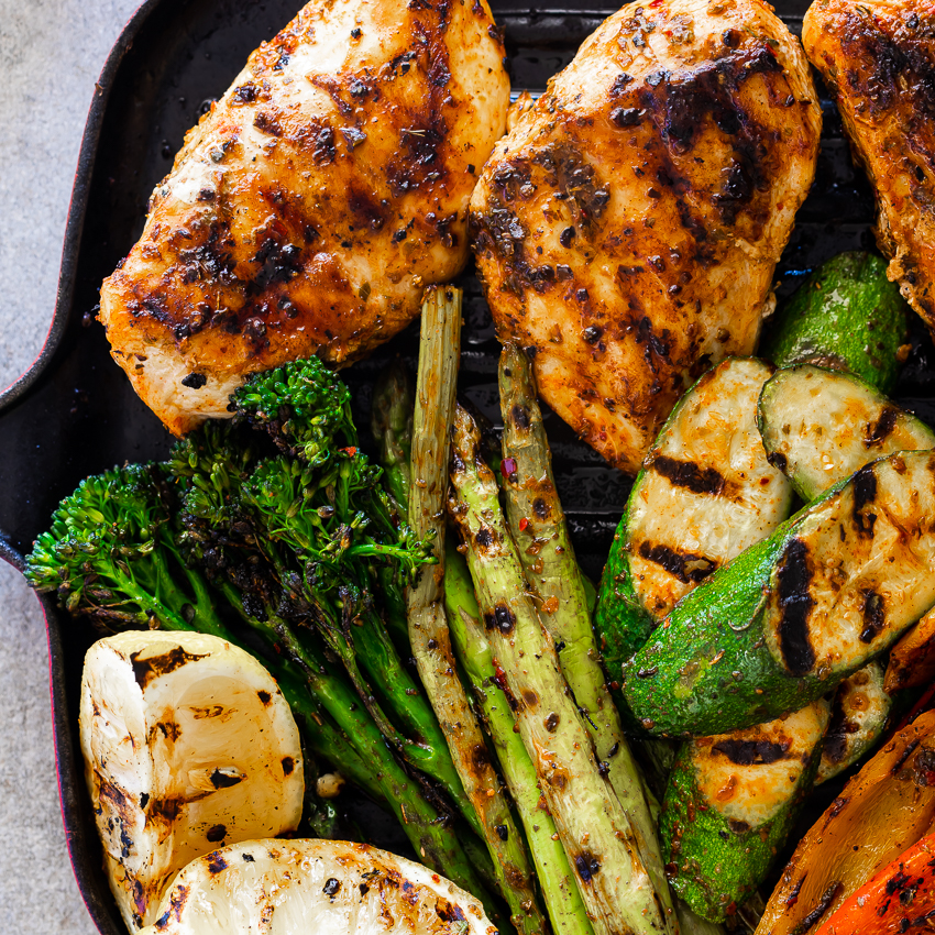 30-minute Easy Grilled Chicken And Vegetables
