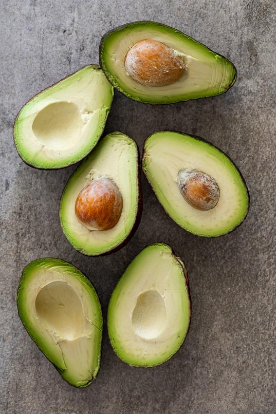 Creamy, ripe avocados for avocado salad