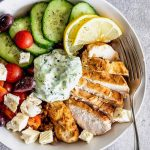 Easy Greek chicken grain bowl