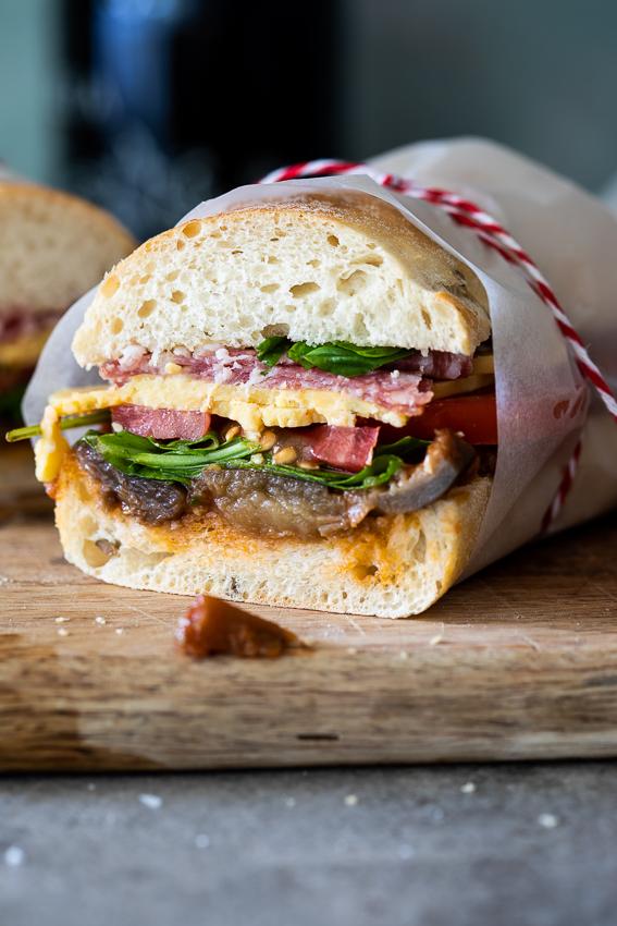 Easy salami sandwich