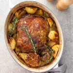 Slow roasted Greek lamb