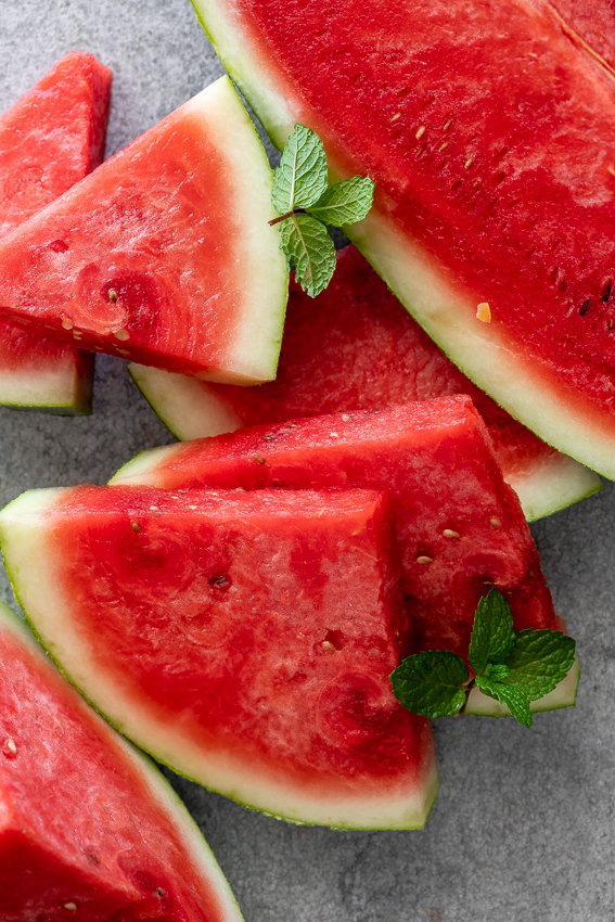 Sliced fresh watermelon