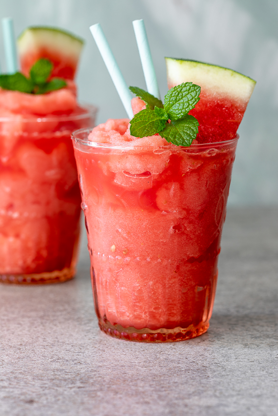 Watermelon frozen gin and tonic