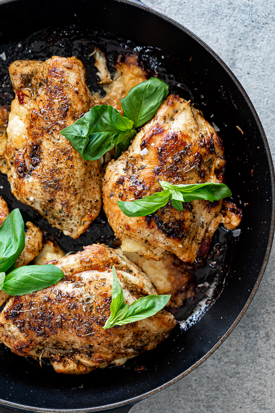 Pan-seared Caprese stuffed chicken breasts