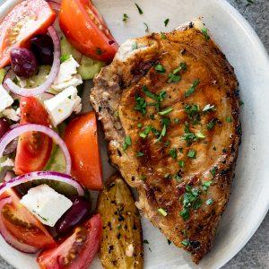Easy Greek pork chops