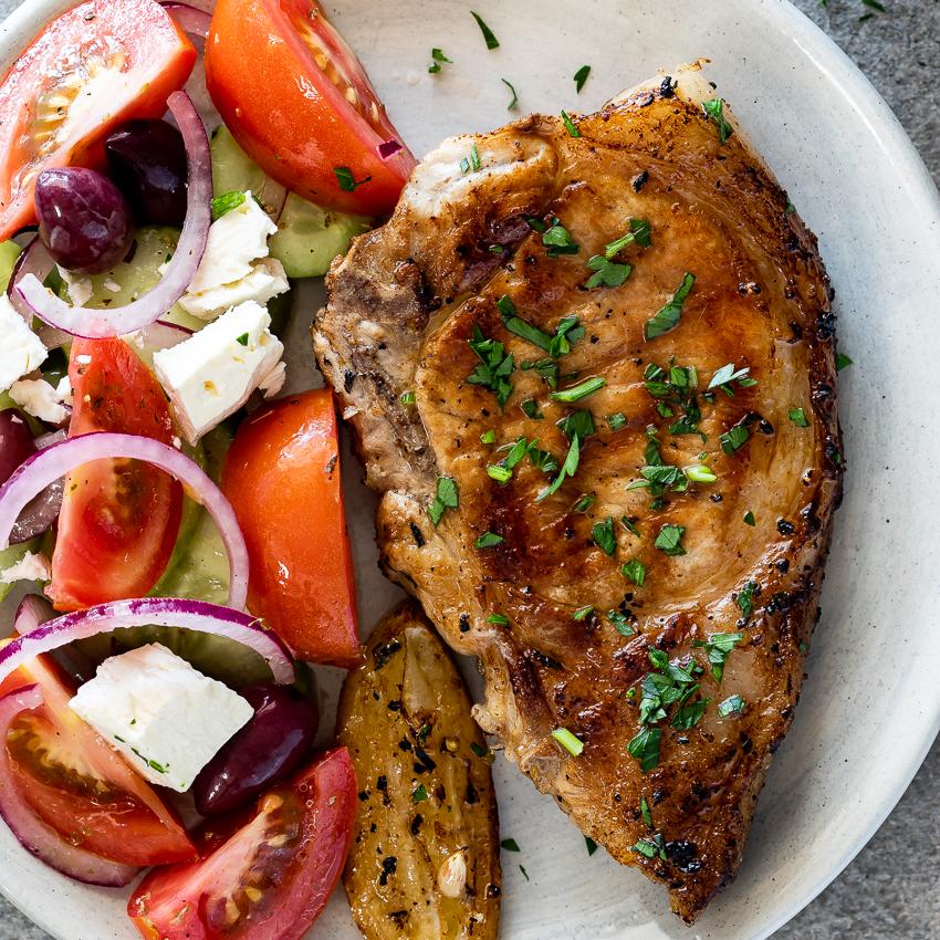 greek pork chop marinade recipe Easy Greek pork chops