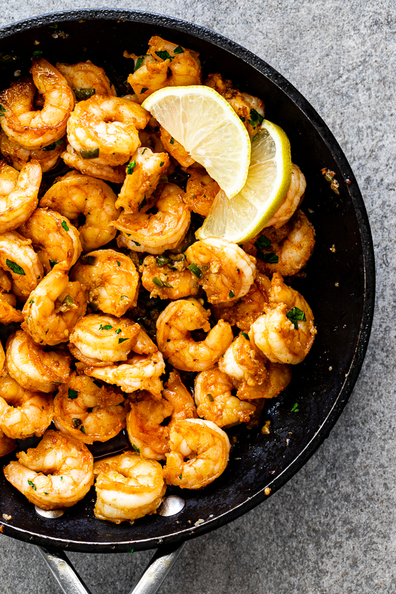 Jalapeño lemon butter shrimp