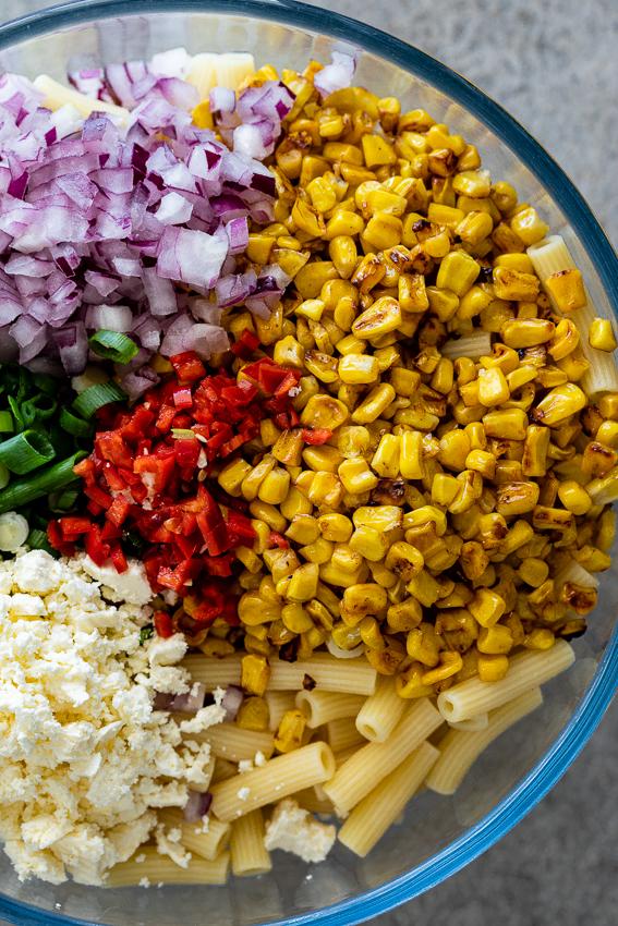 Mexican street corn macaroni salad