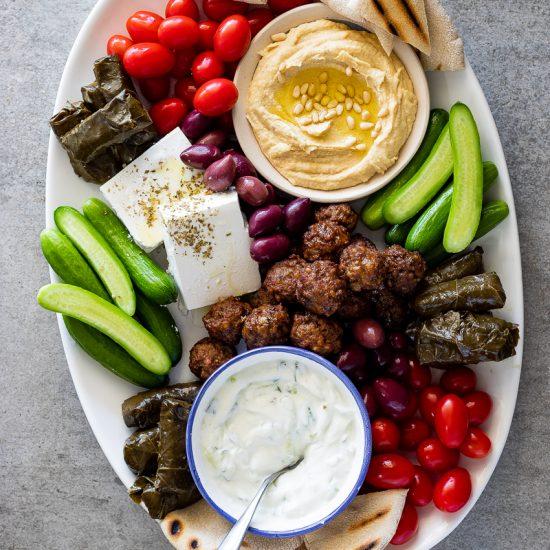 Greek mezze platter