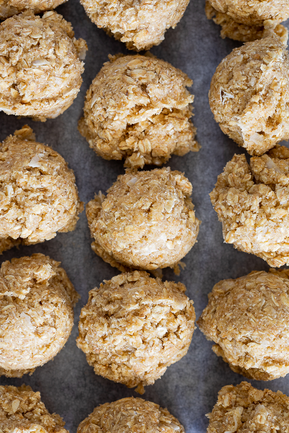 Coconut oatmeal cookie dough