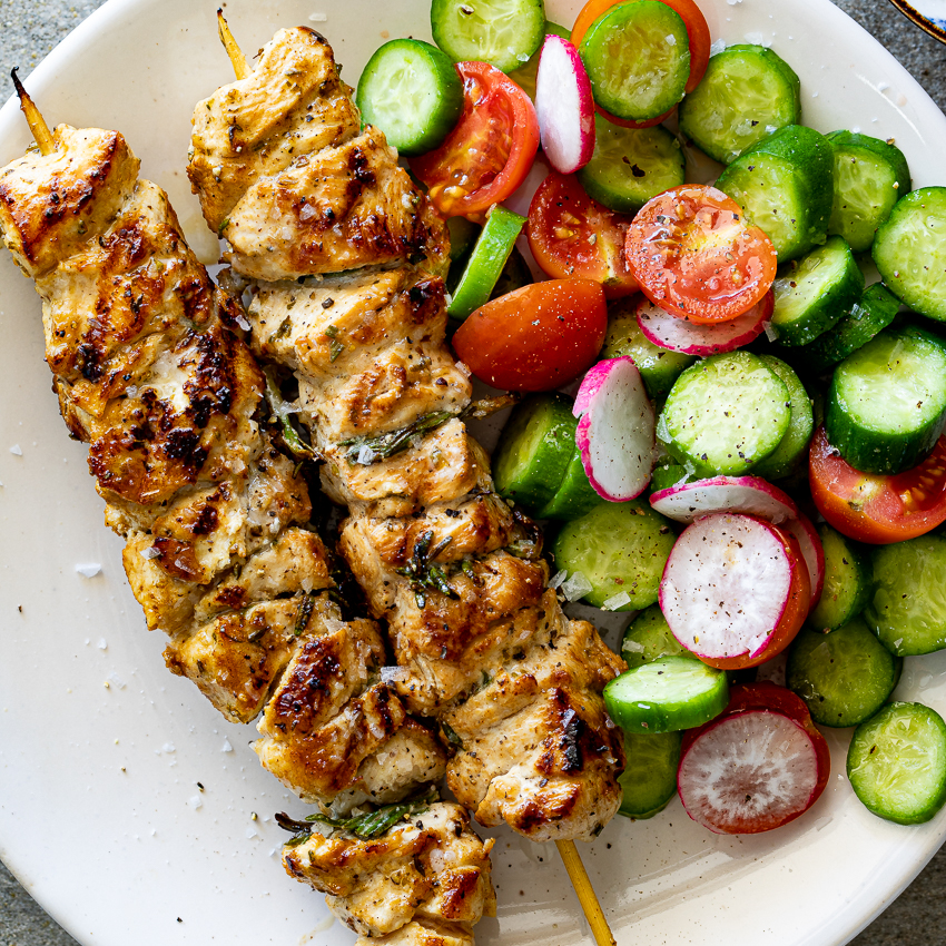 Easy Herby Lemon Chicken Skewers Simply Delicious