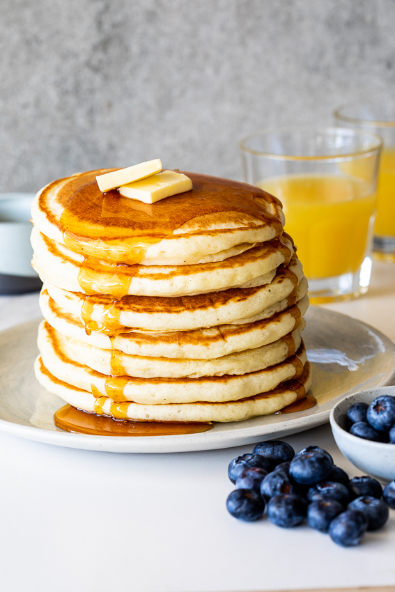 Buttermilk pancakes is the ultimate brunch recipe.