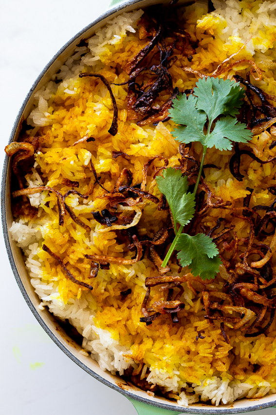 Easy cauliflower biryani in pot