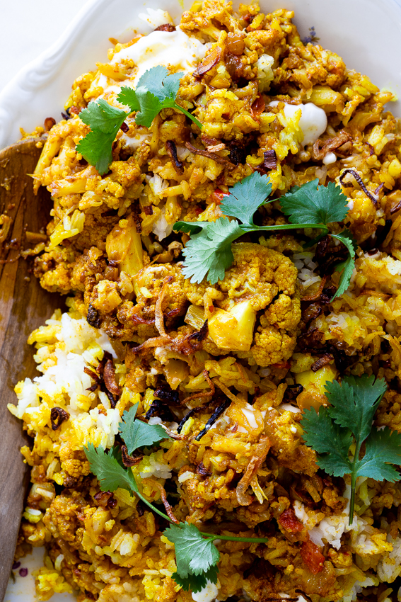 Easy vegetarian cauliflower biryani