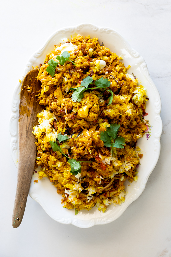 Easy cauliflower biryani